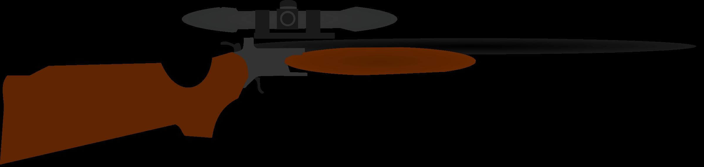 2400x571 Shotgun Clipart Scope