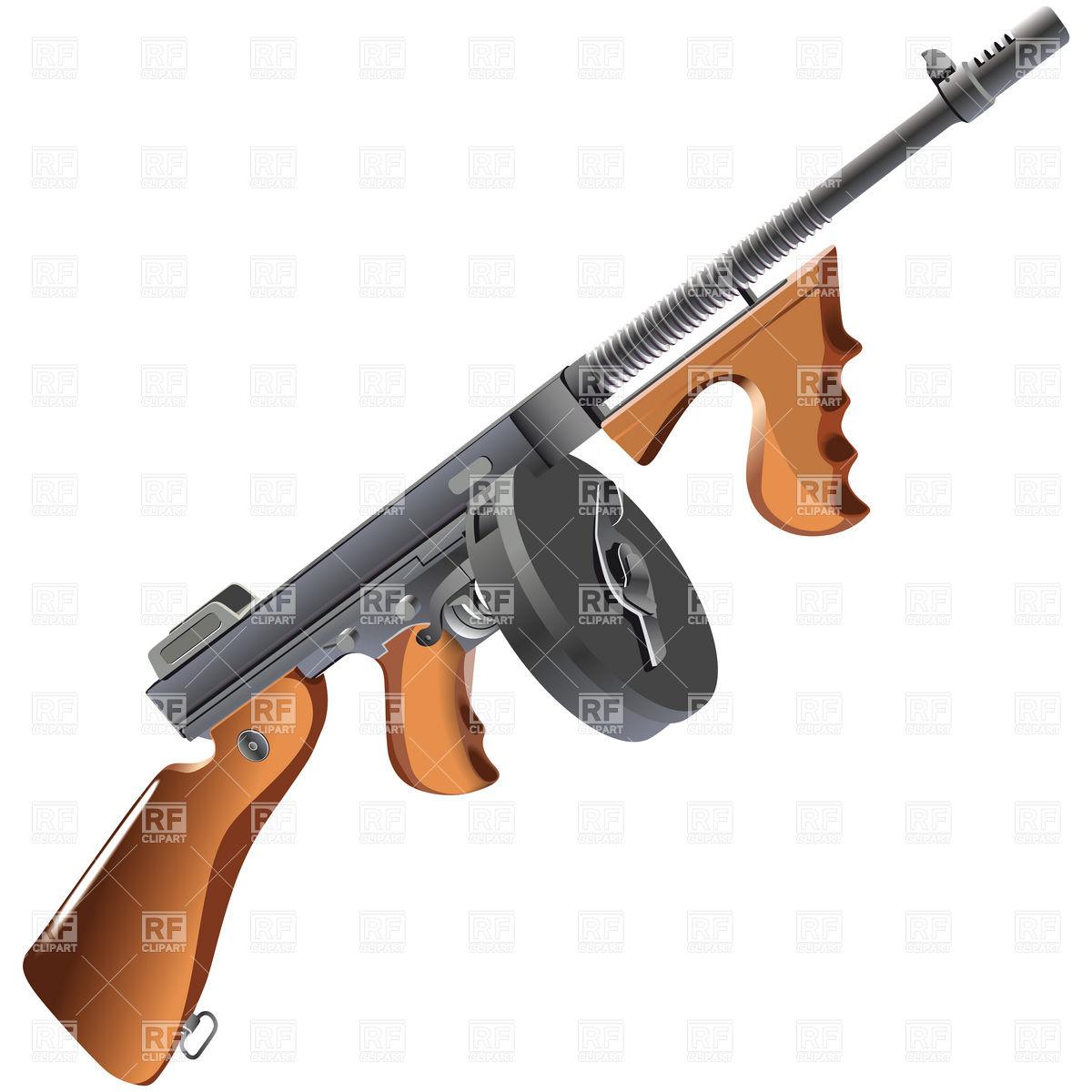 1200x1200 Shotgun Clipart Tommy Gun
