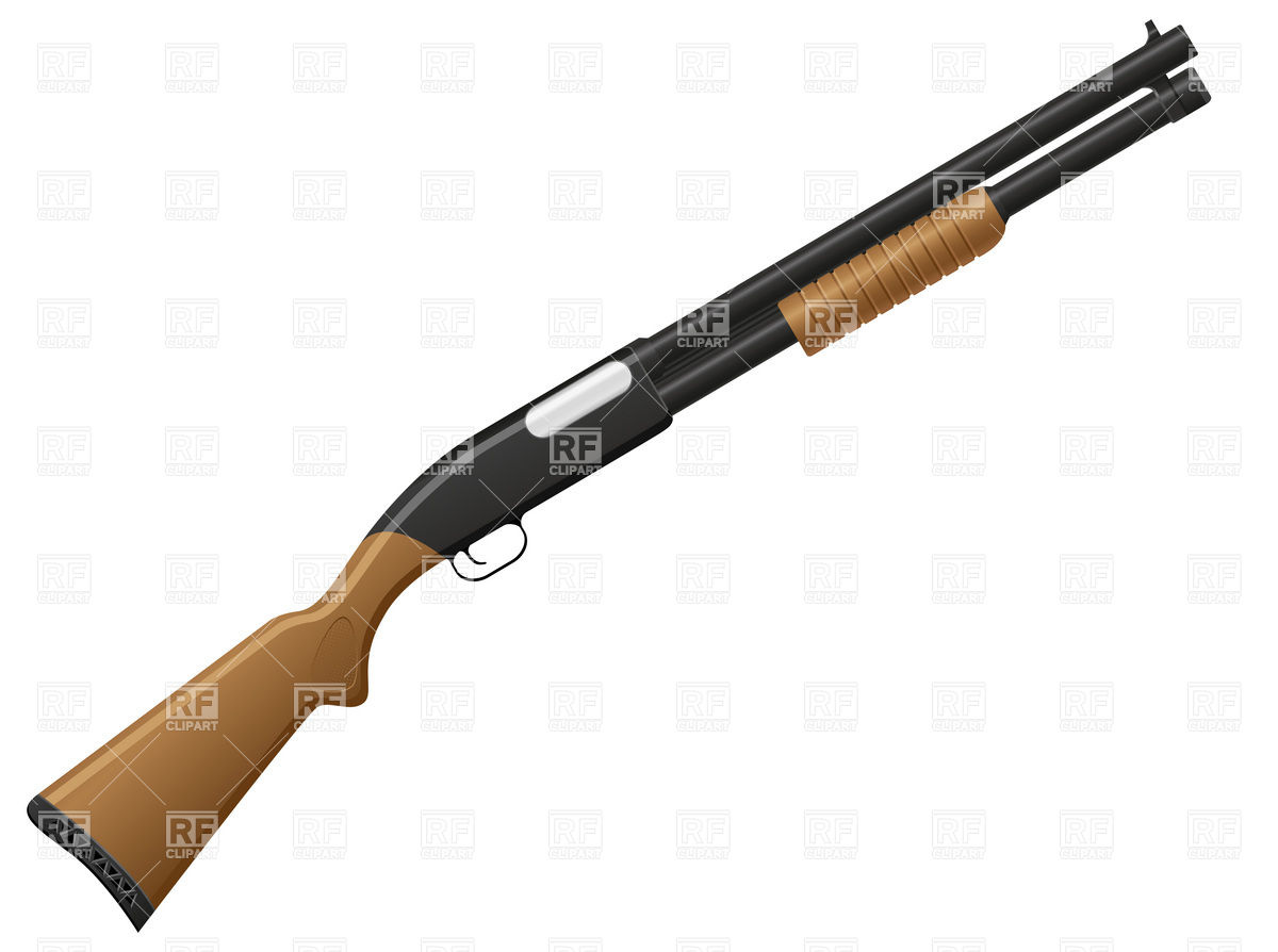 1200x894 Shotgun On White Background Royalty Free Vector Clip Art Image