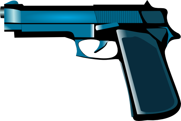 600x401 Blue Gun Clip Art