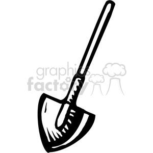 300x300 Royalty Free Black And White Dirt Shovel 385048 Vector Clip Art