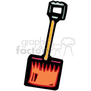 300x300 Royalty Free Cartoon Shovel 384991 Vector Clip Art Image