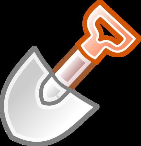 483x500 Vector Clip Art Of Shovel With Red Handle Public Domain Vectors