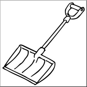 304x304 Clip Art Snow Shovel Bampw I Abcteach
