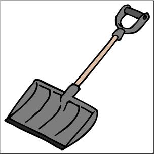 304x304 Clip Art Snow Shovel Color I Abcteach