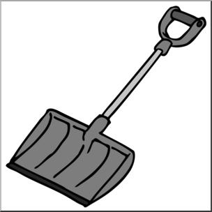 304x304 Clip Art Snow Shovel Grayscale I Abcteach