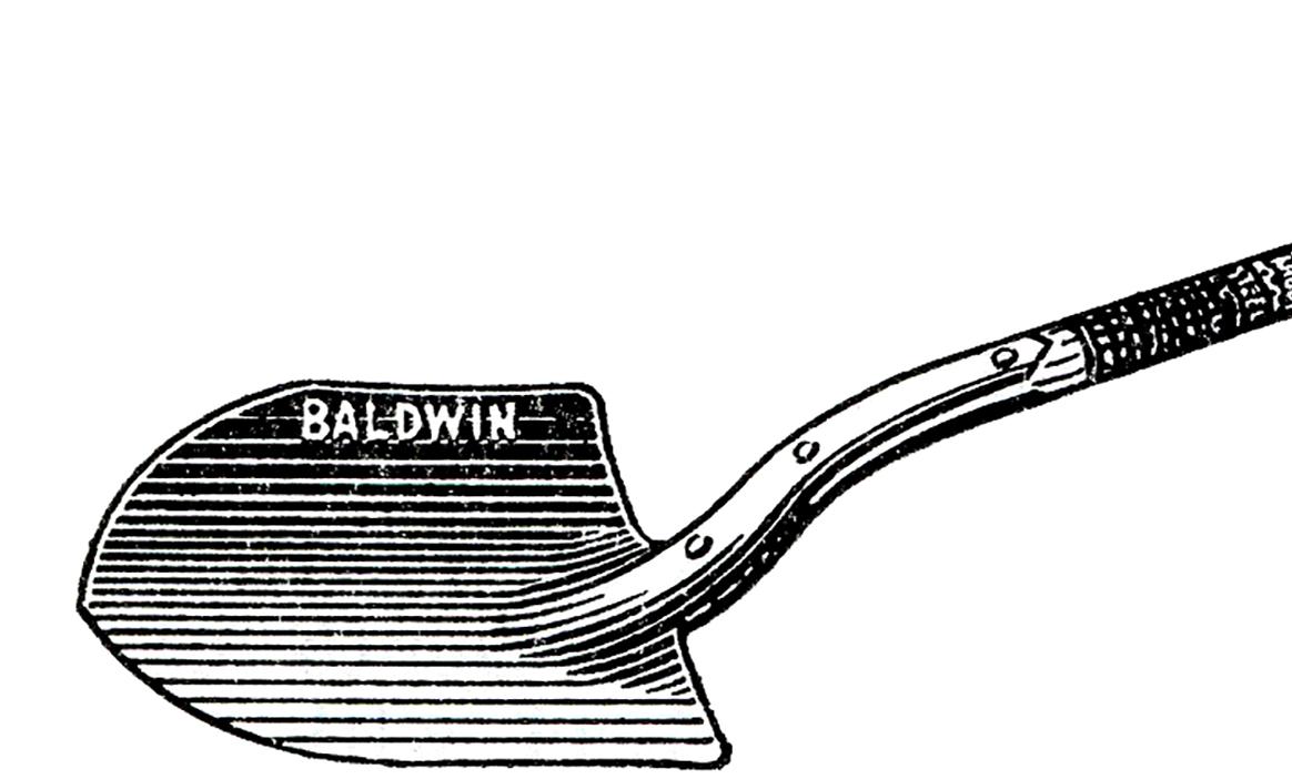 1164x702 Free Vintage Shovel Clip Art Images