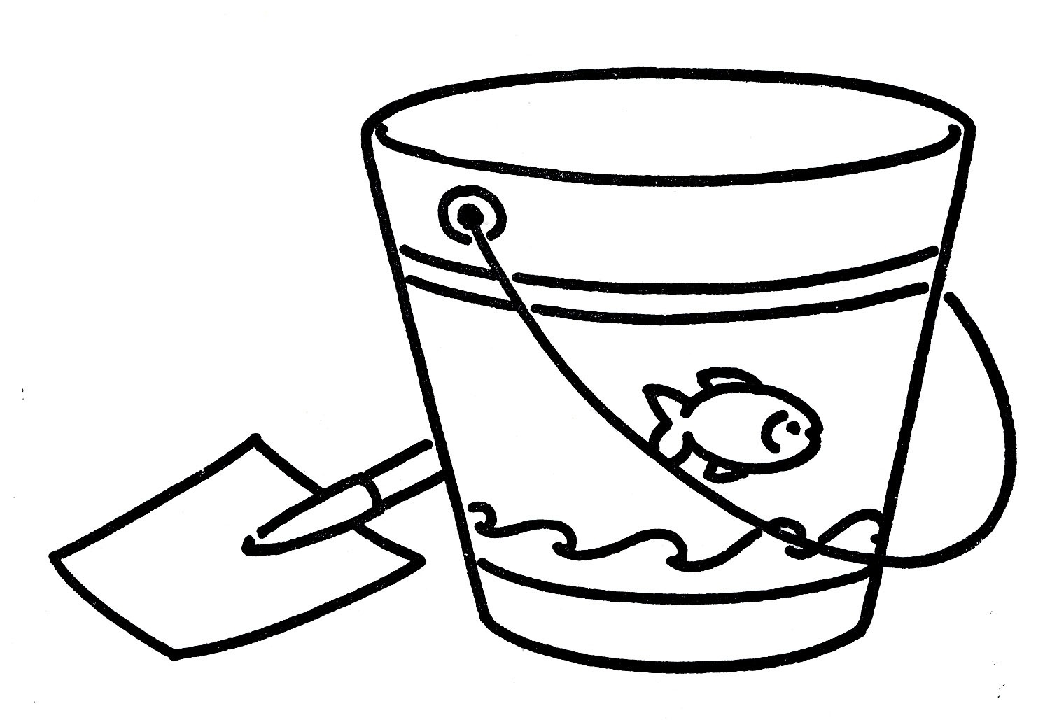 1500x1029 Pail Clipart Black And White Letters Example