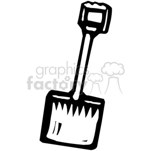 300x300 Royalty Free Black And White Shovel 384941 Vector Clip Art Image
