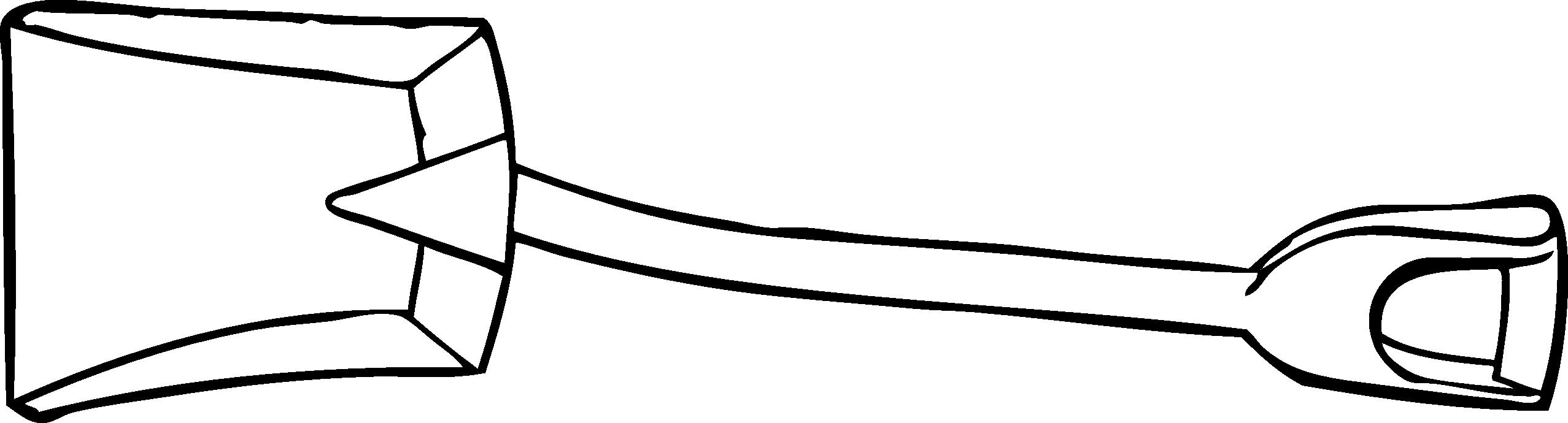 2555x690 Shovel Black And White Clipart
