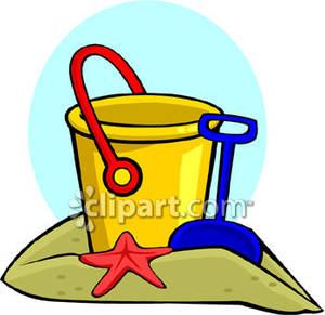 300x291 Pail And Shovel With Red Starfish