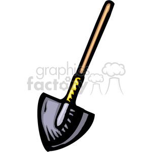 300x300 Royalty Free Dirt Shovel 384967 Vector Clip Art Image