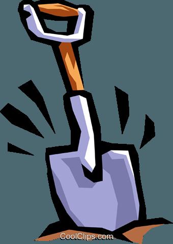 340x480 Shovel Digging Royalty Free Vector Clip Art Illustration Indu0753