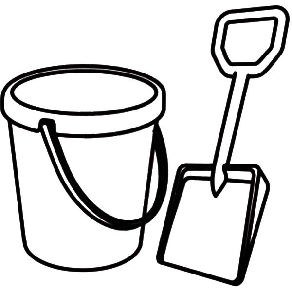 600x600 Picture Of Shovel And Beach Bucket Coloring Pages Best Place To