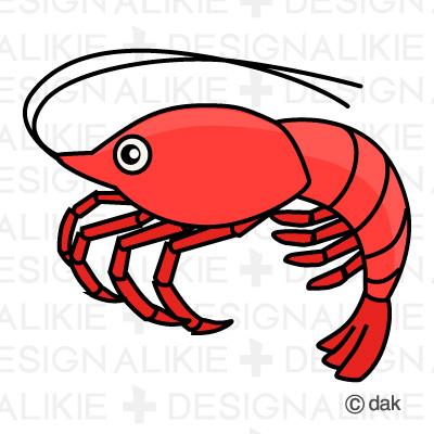 400x400 Shrimp Clipart Cute