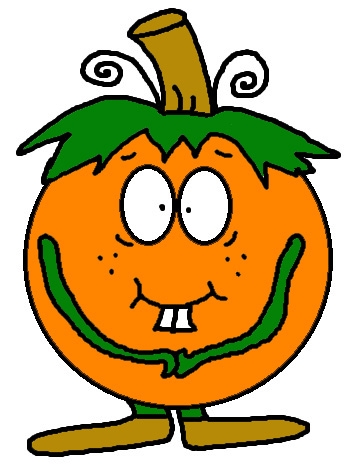 348x468 Shy Pumpkin Clipart