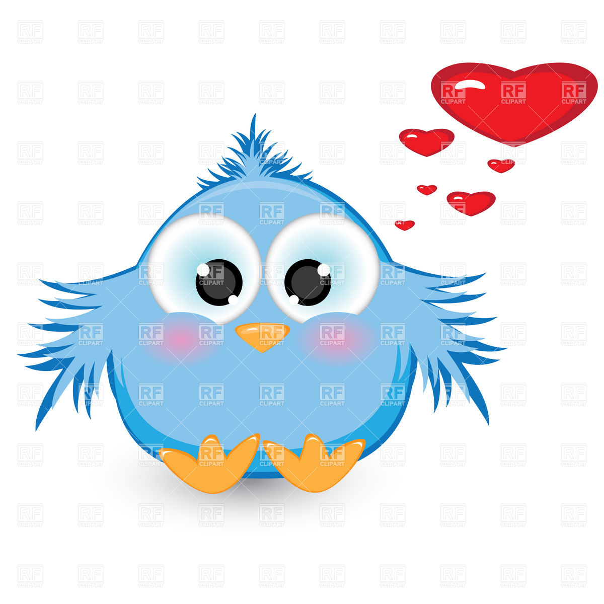 1200x1200 Shy Baby Bird In Love Royalty Free Vector Clip Art Image