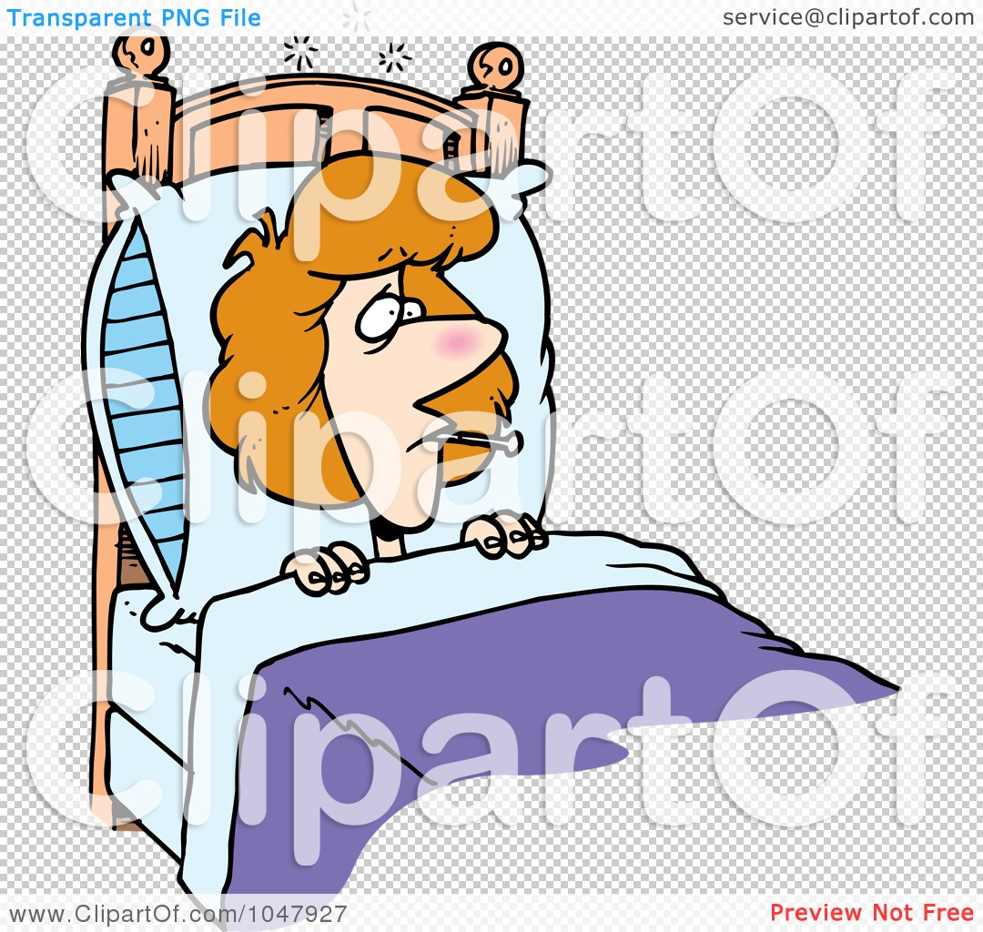1080x1024 Bed Clipart Sick Woman