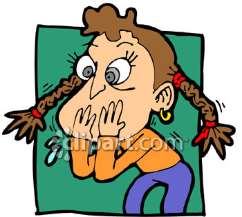 350x315 Sick Girl Who Looks Like She's Going To Vomit Clip Art