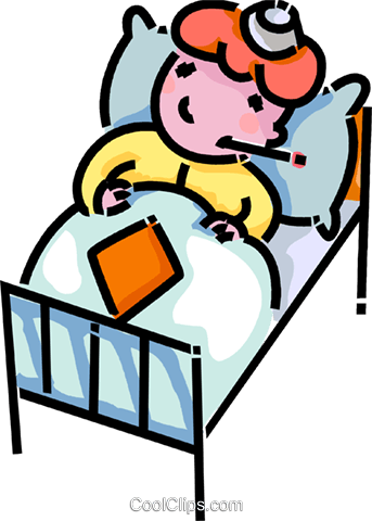 343x480 Sick Child Laying In Bed Royalty Free Vector Clip Art Illustration