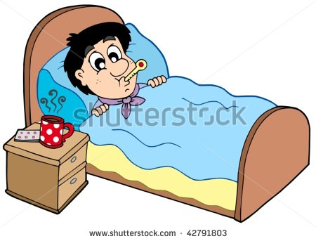 450x343 Sick Person In Bed Clipart