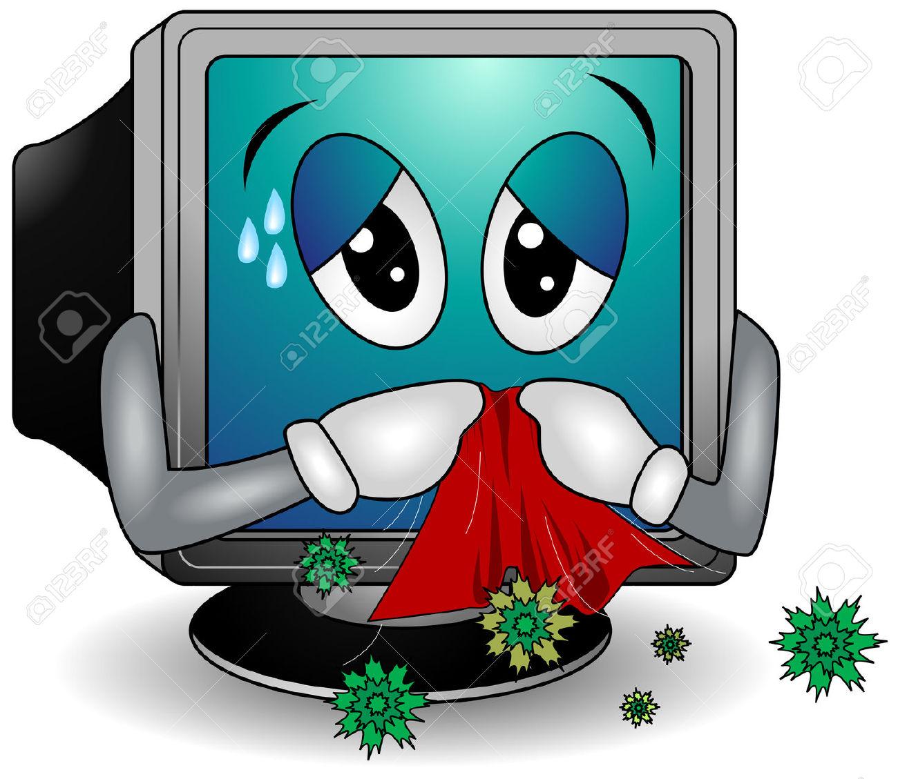 Sick Computer Clipart | Free download best Sick Computer ...
