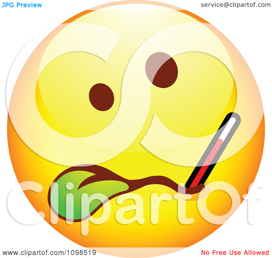 1080x1024 Sick Smiley Clipart