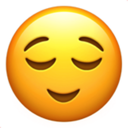 256x256 Relieved Face Emoji U 1f60c