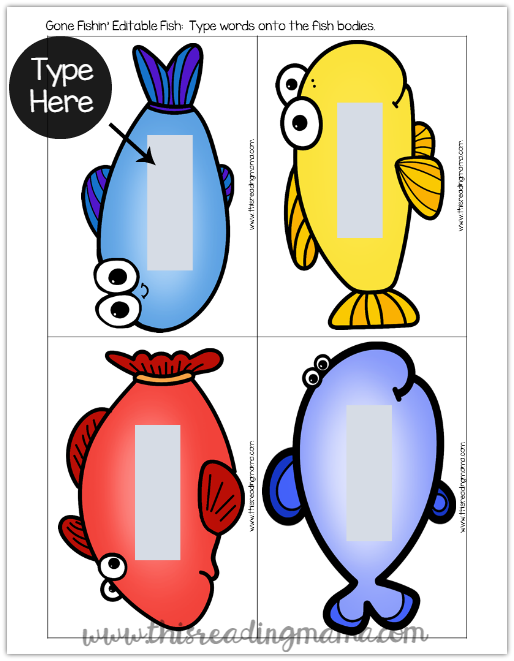 514x661 Sight Words Fishing Game {With Editable Fish!}