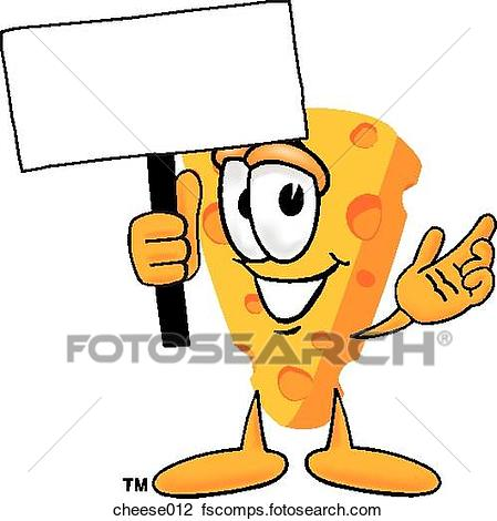 449x470 Clip Art Of Cheese With Sign Cheese012