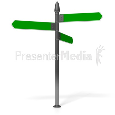 400x400 Direction Sign