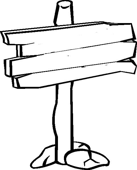 480x597 Wood Sign Clip Art