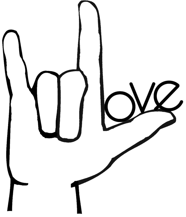 736x861 Love Sign Language Clip Art