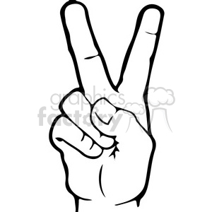 300x300 Royalty Free Asl Sign Language 2 Clipart Illustration 391660