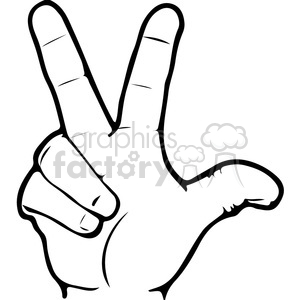 300x300 Royalty Free Asl Sign Language 3 Clipart Illustration 391654