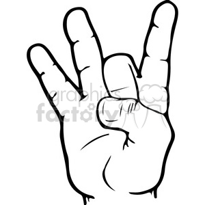 300x300 Royalty Free Asl Sign Language 8 Clipart Illustration 391656
