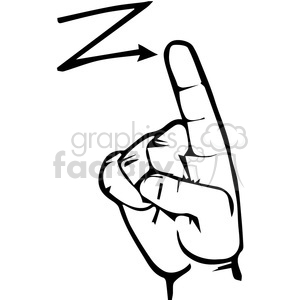 300x300 Royalty Free Sign Language Letter Z 167514 Vector Clip Art Image