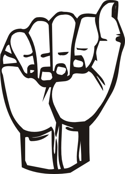 432x599 Sign Language A Clip Art Free Vector In Open Office Drawing Svg