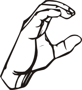 273x297 Sign Language C Clip Art