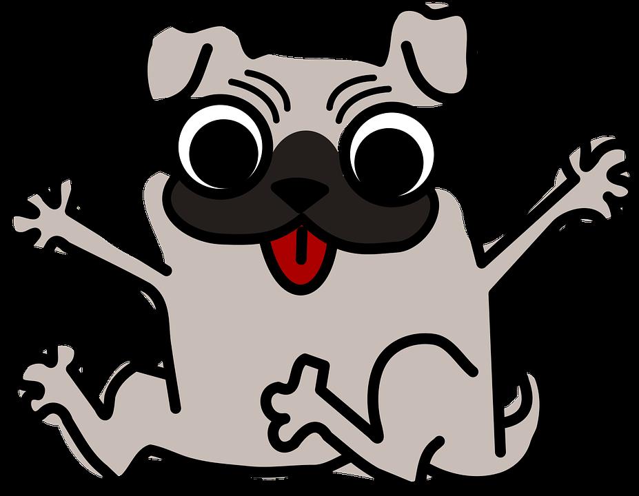 927x720 Pug Clipart Animated