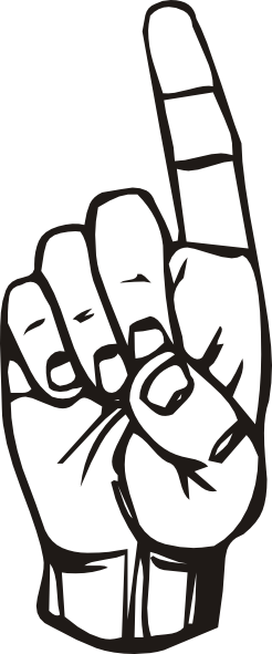 246x591 Sign Language D Finger Pointing Clip Art Free Vector 4vector