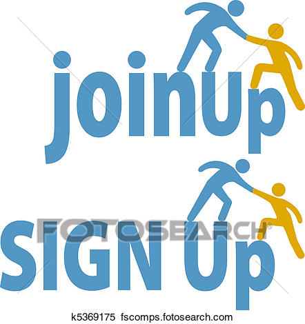 442x470 Clipart Of Member Helps People Sign Up Join Group Icon K5369175