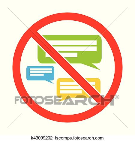 450x470 Clipart Of Silent Please. No Speaking. Keep Quiet. Sign Vector