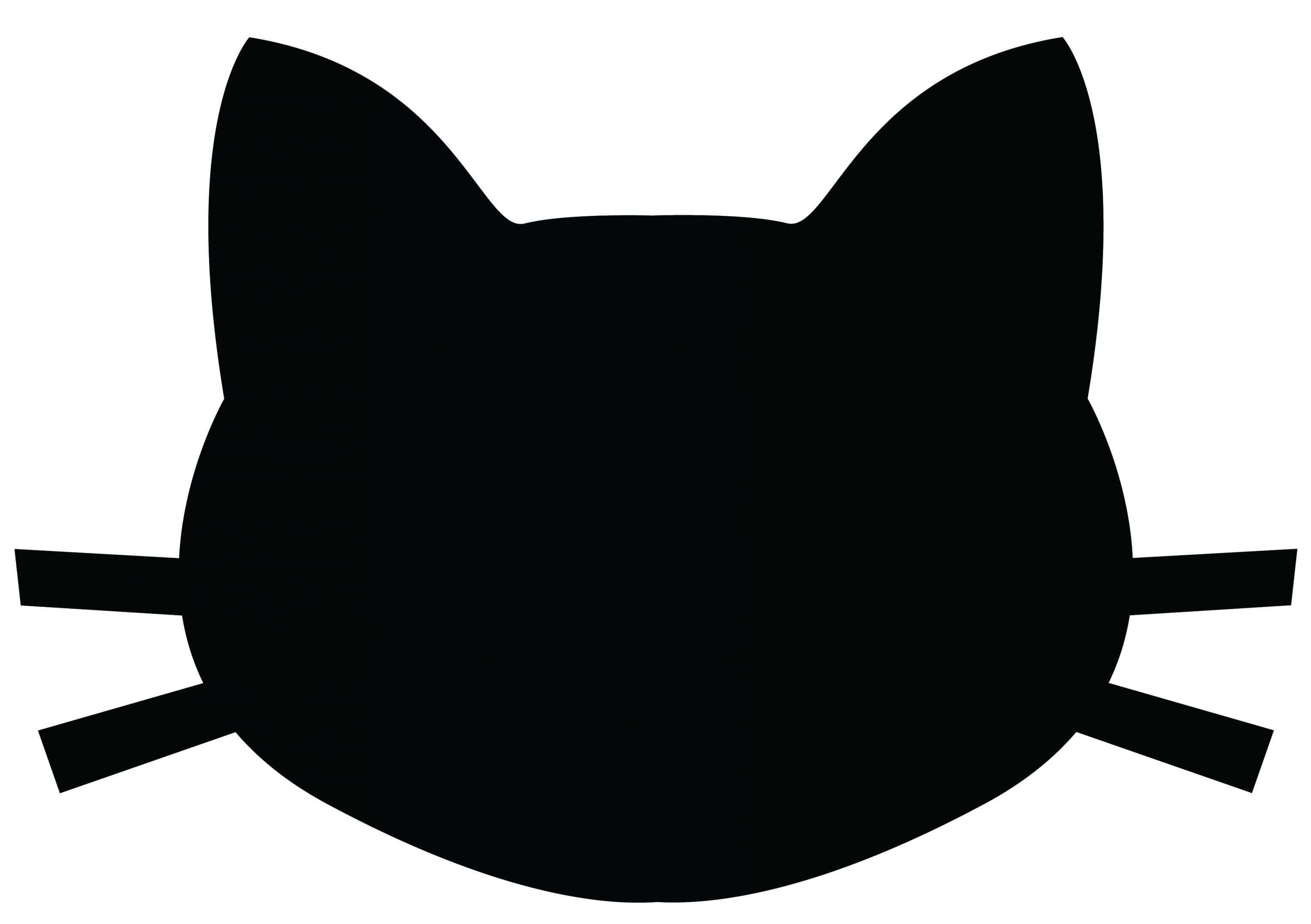 3060x2157 Cat Face Silhouette Free Download Clip Art Free Clip Art