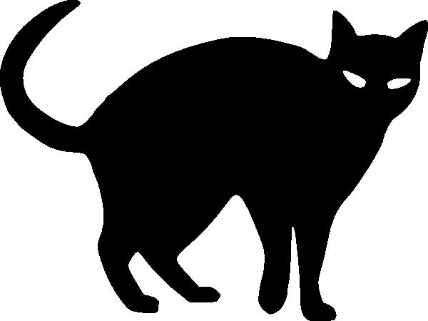 600x450 Cat Silhouette Clip Art