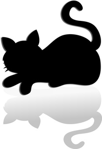 206x300 Cat Silhouette Clipart Image