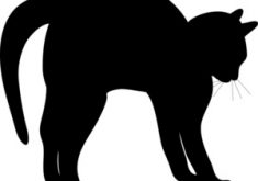 235x165 Exclusive Cat Silhouette Clip Art Black Clipart Image Of A