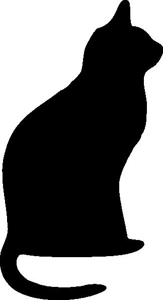 324x595 Tattoo Black Cat Silhouette