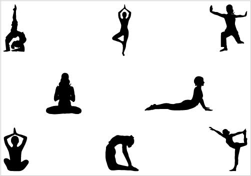 502x352 Clip Art Yoga Silhouette Clipart
