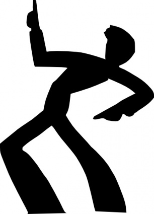 306x425 Dancing Man Silhouette Clip Art Vector, Free Vector Graphics